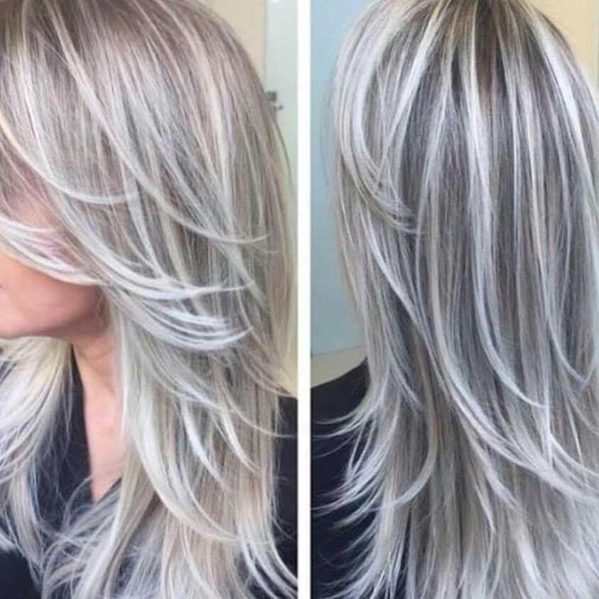 Swoon Worthy Grey Silver Hair Color Hair Highlights Hair Styles
