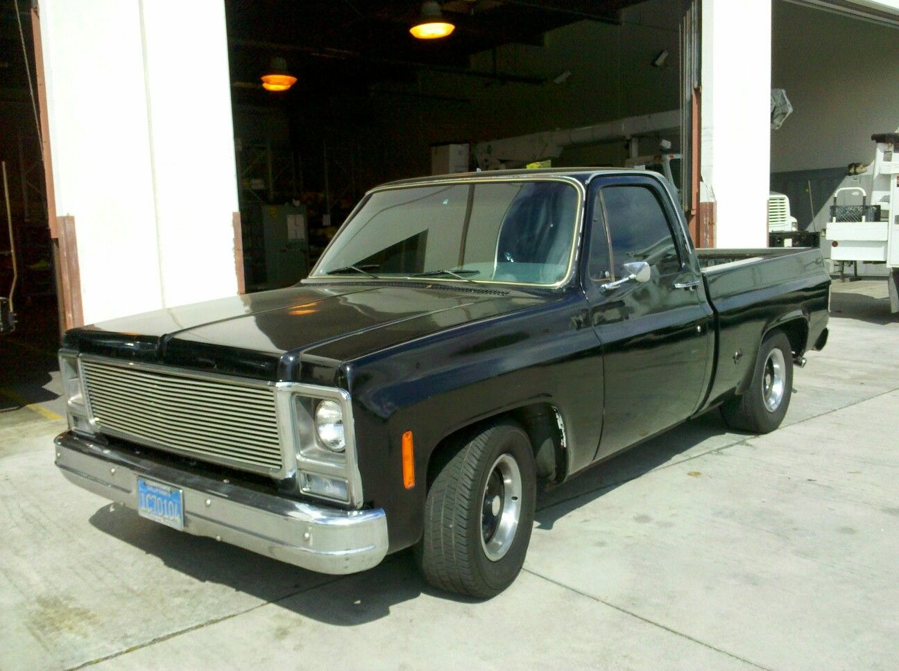 hight resolution of black 76 chevy short bed