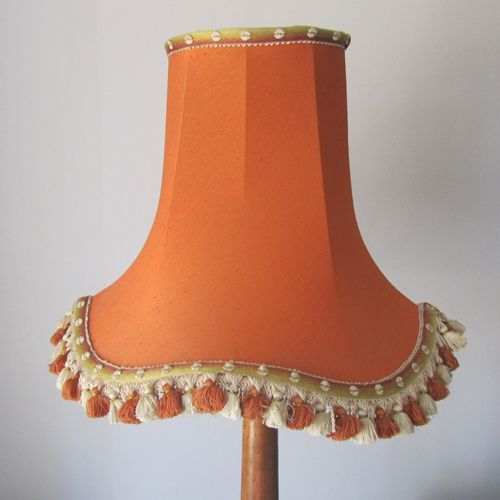 Vintage Lampshade - burnt orange with tassels, www ...