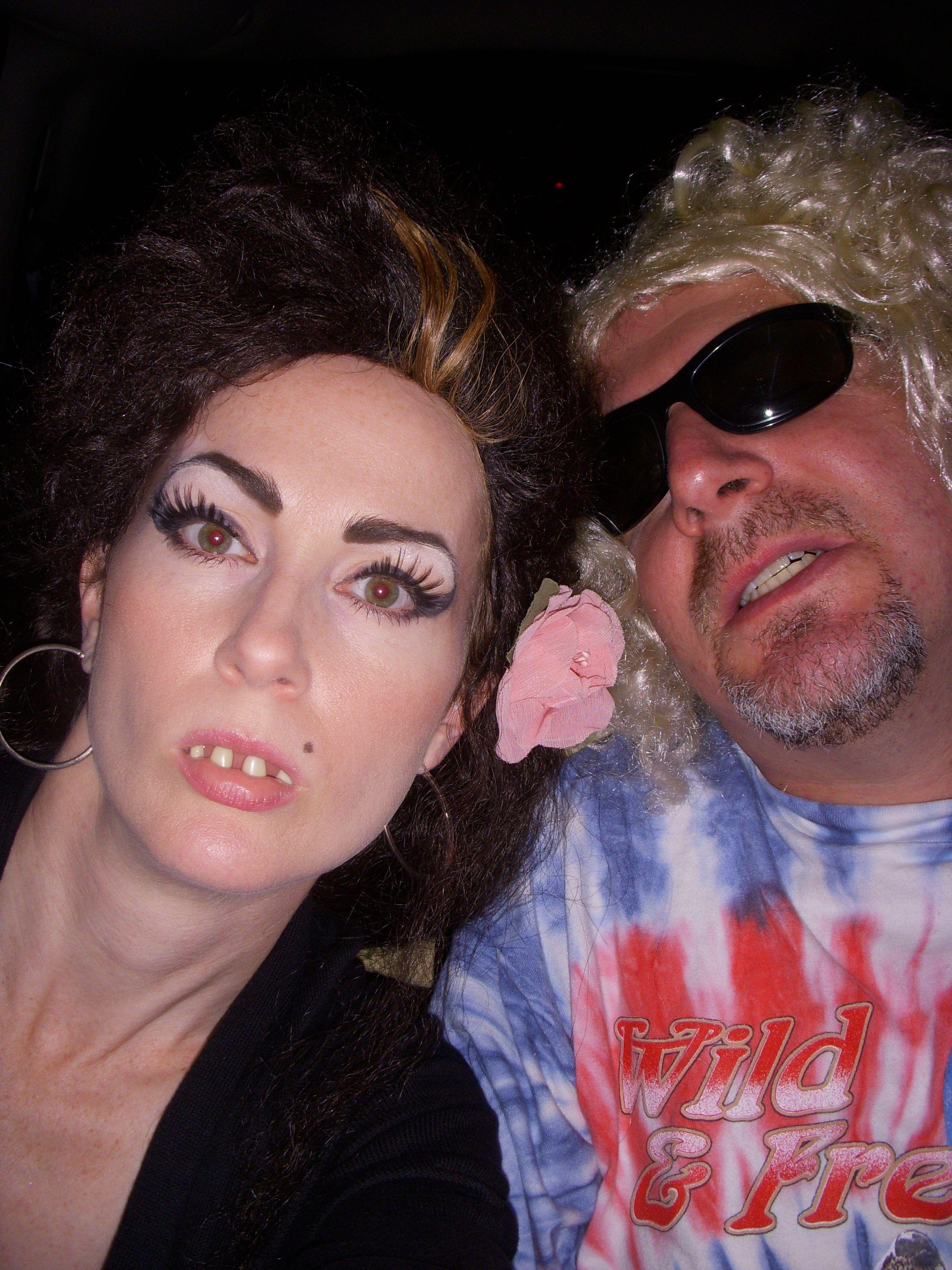 Amy Winehouse And Sammy Hagar Halloween Costumes 2009 Couples Costumes Red Rocker Amy Winehouse