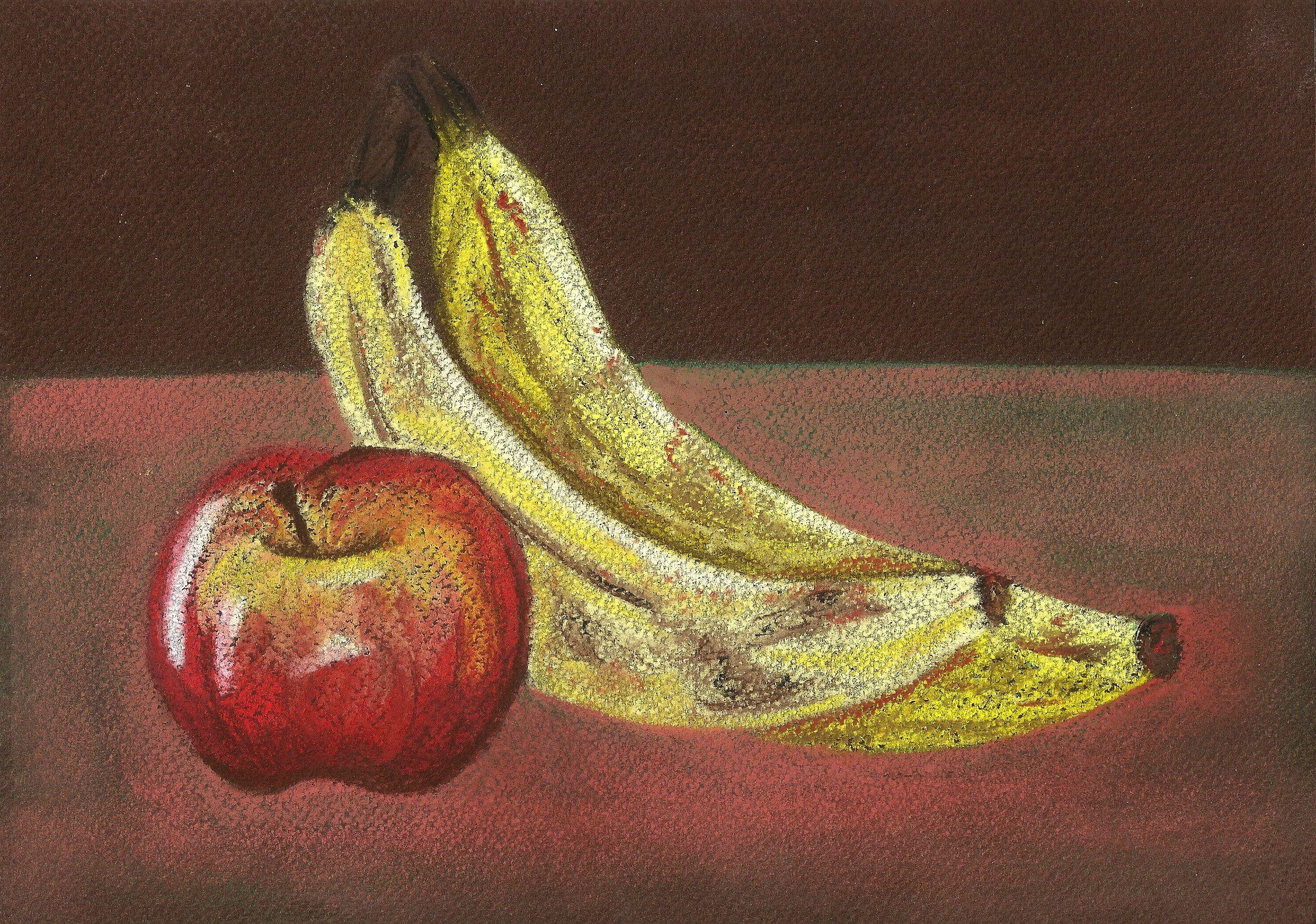 Tiza Pastel Composicion De Objetos Organicos Art Painting