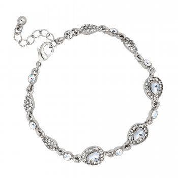 Jon Richard Vintage Inspired Crystal Peardrop Bracelet Bridesmaid Jewelry Jewelry Bracelets