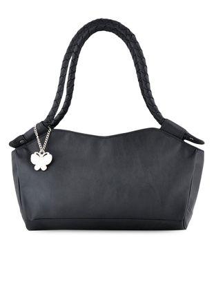 Soild  leatherette handbag - Online Shopping for handbags