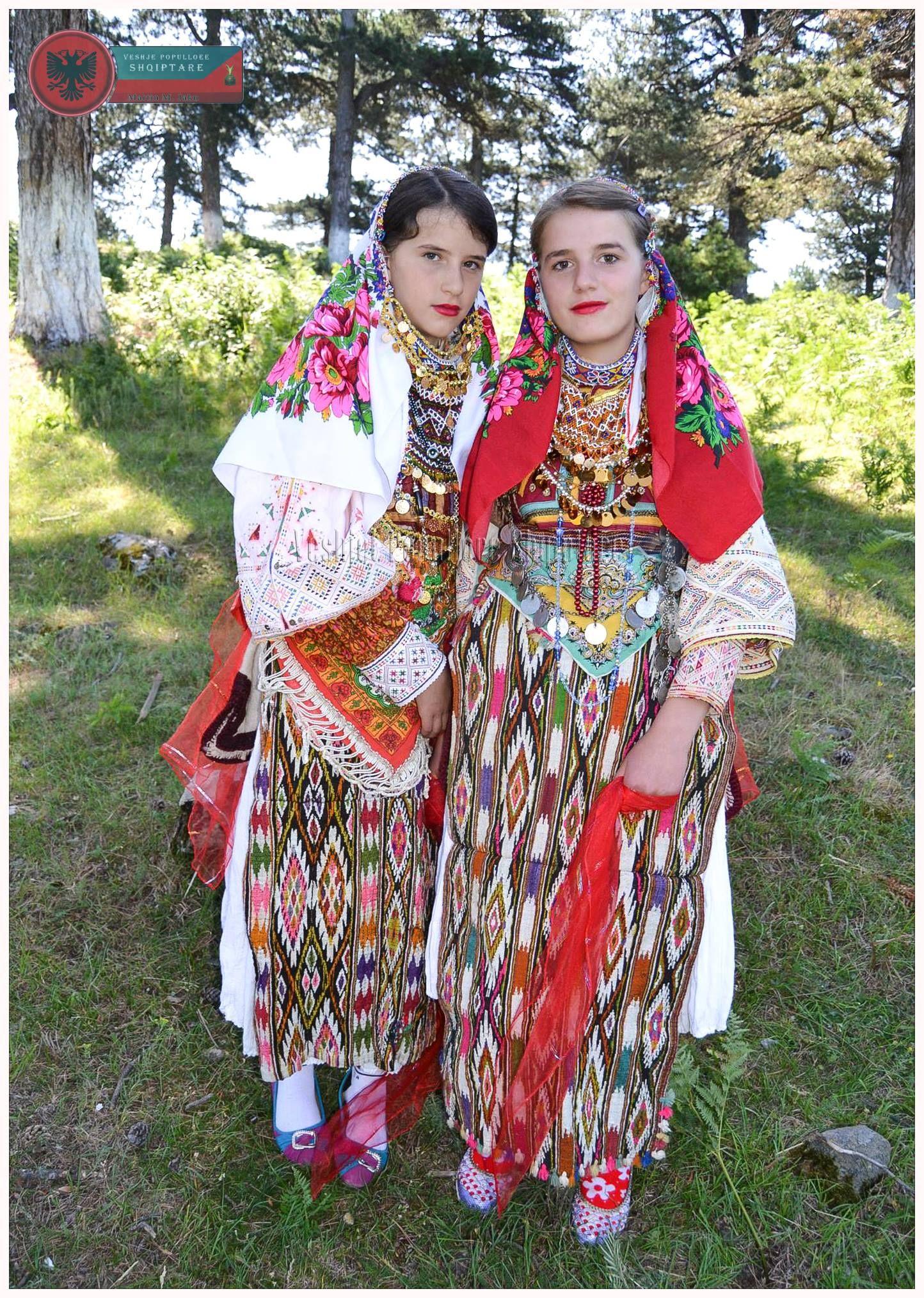 Folk costumes from Elbasan, Albania