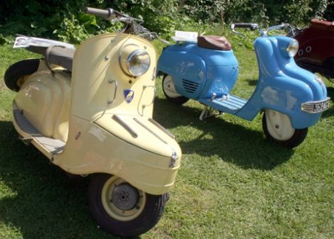 1955 Peugeot S57 and the Terrot VMS1  #scooter