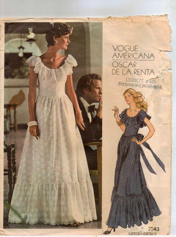 70s Vogue Americana Pattern 1043 Oscar de