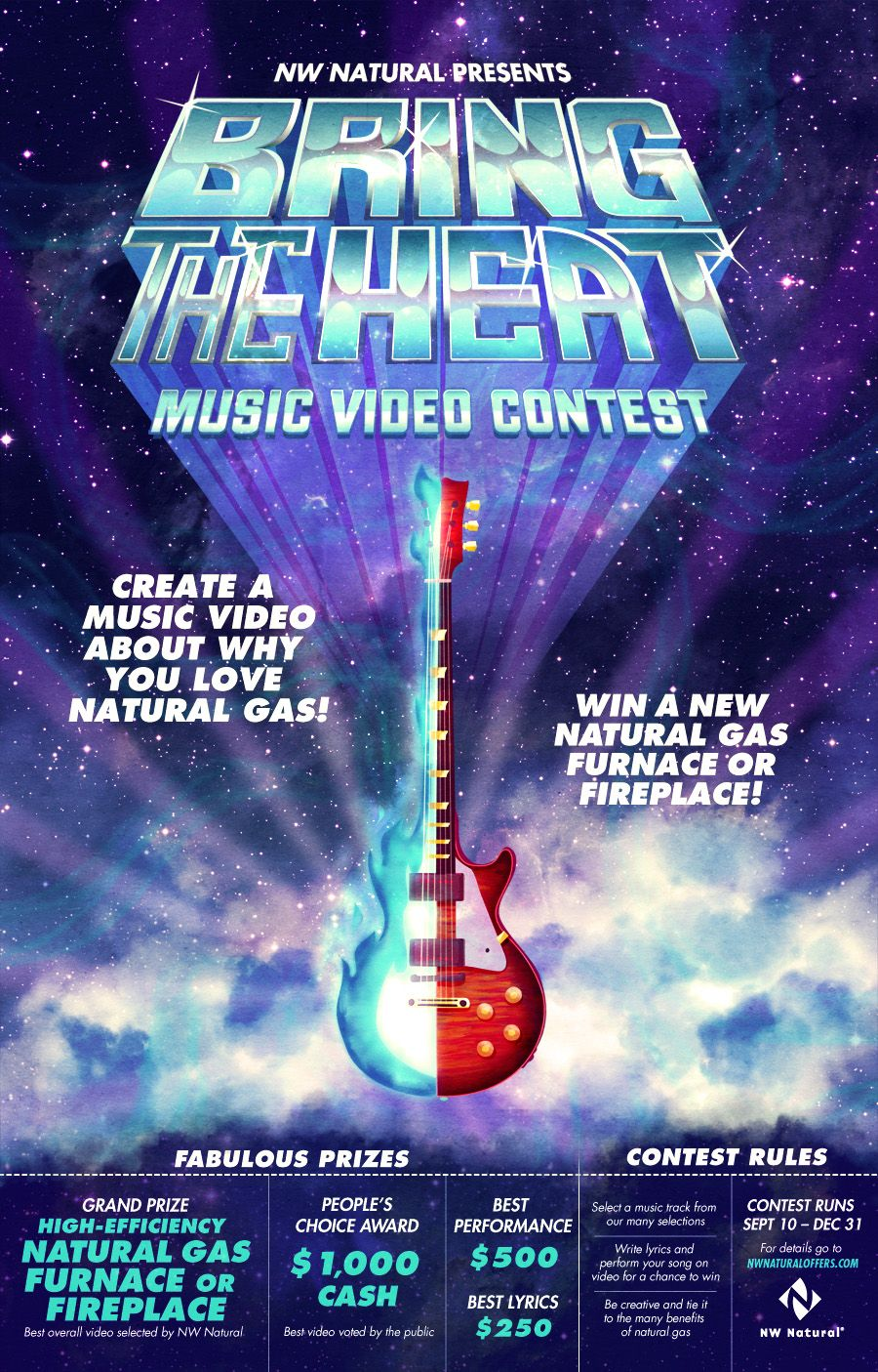 NW Natural: Bring the Heat Music Video Contest Poster