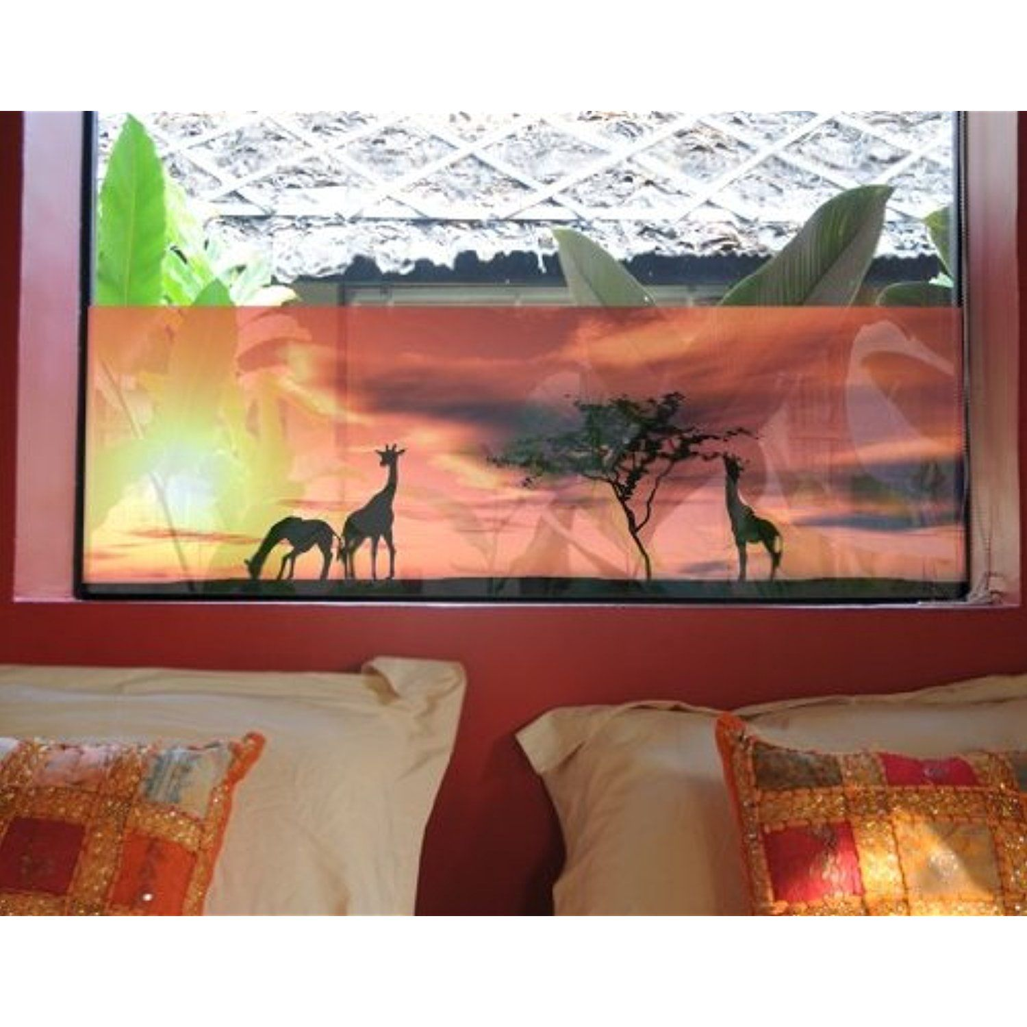Déco Murale Diy Window Mural African Life Window Sticker Window Film Window Tattoo