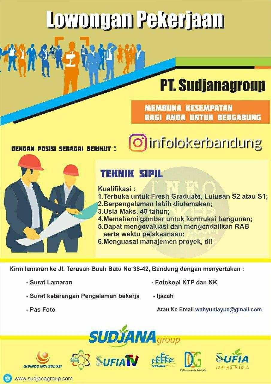Lowongan Kerja Teknik Sipil Pt Sudjanagroup Bandung Mei 2018 Teknik Sipil Teknik Pengikut