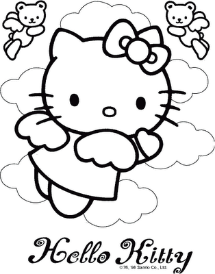 Sweet Angel Kitty Coloring Pages Hello Kitty Coloring Hello Kitty Pictures Hello Kitty Colouring Pages