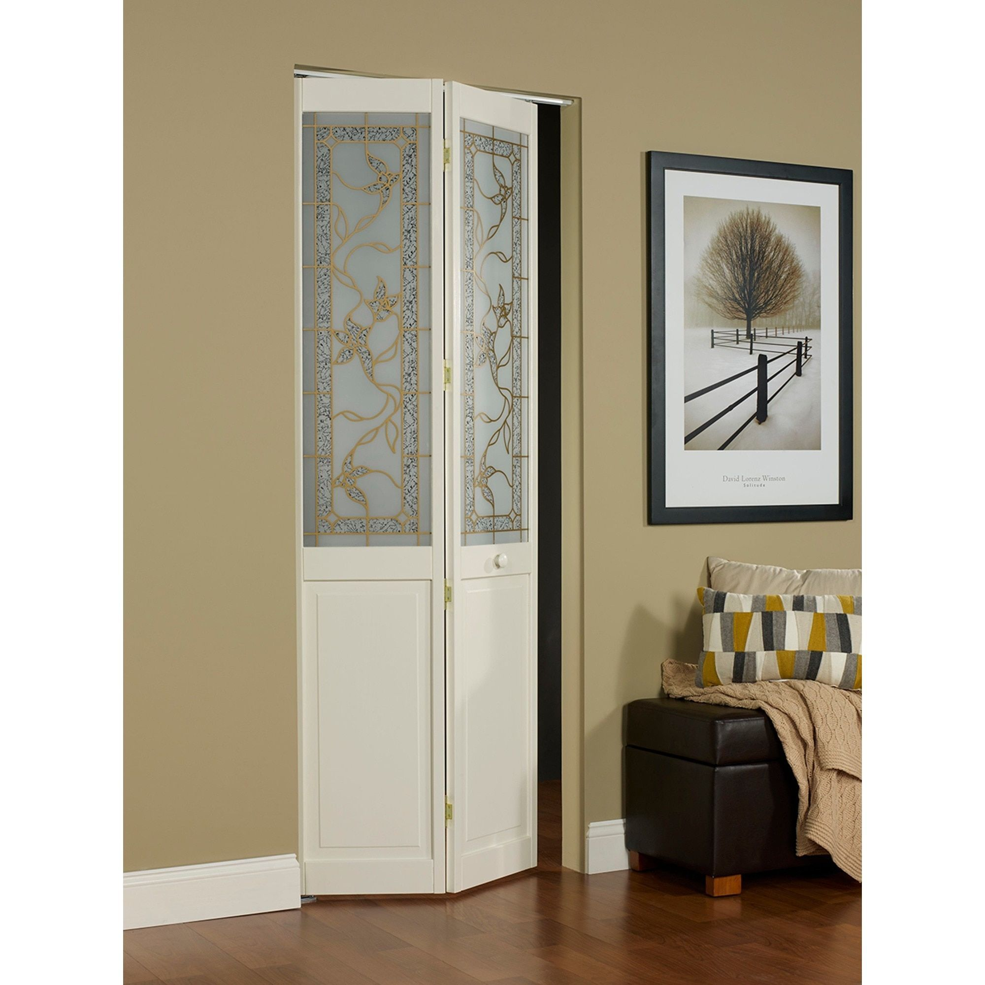 Ltl Giverny 24x80 5 Inch Gl Over Panel Unfinished Bifold Door 617 24 X 80 1 2 Decorative