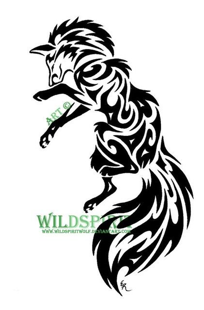 Awesome Celtic Fox Tattoo Design Portretnye Zarisovki Risunki Tatuirovki