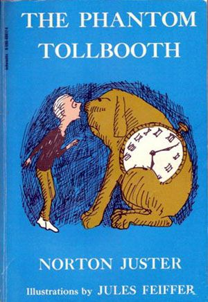 "This ingenious fantasy centeres around Milo, a bored ten-year-old who comes home to find a large toy tollbooth sitting in his room. Joining forces with a watchdog named Tock, Milo drives through the tollbooth's gates and begins a memorable journey. He meets such characters as the foolish, yet lovable Humbug, the Mathemagician, and the not-so-wicked ""Which,"" Faintly Macabre, who gives Milo the ""impossible"" mission of returning two princesses to the Kingdom of Wisdom..."