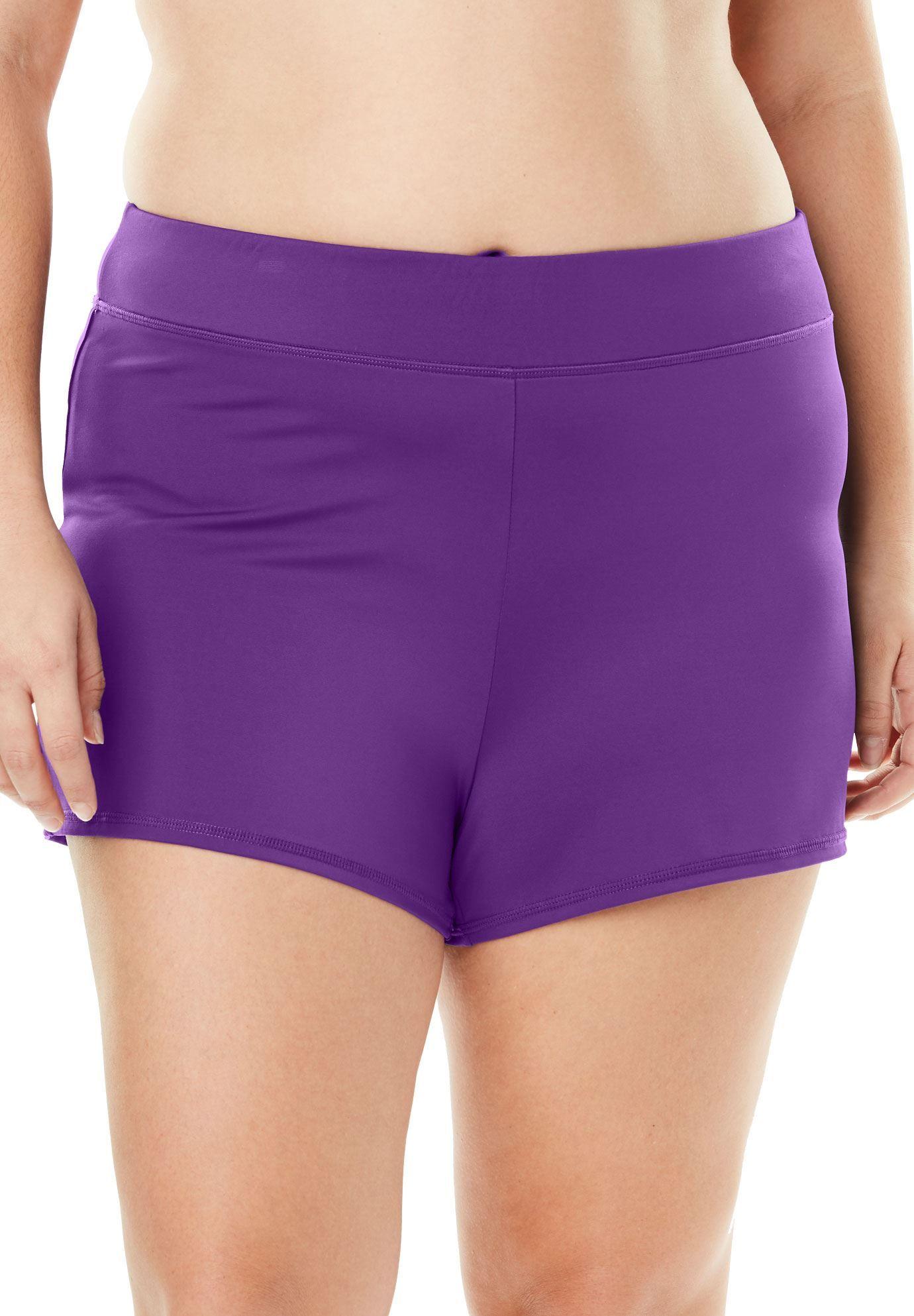 83bc67bdd5479 Wide Band Swim Shorts - Women's Plus Size Clothing | Products | Swim ...