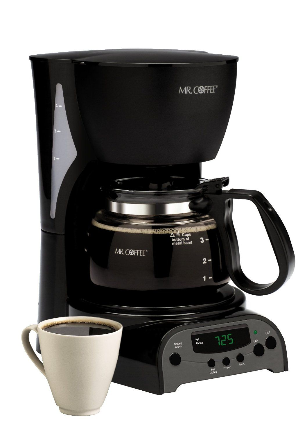Mr Coffee Drx5 4 Cup Programmable Coffeemaker Black Best Drip Coffee Maker Best Coffee Maker Coffee Maker Reviews