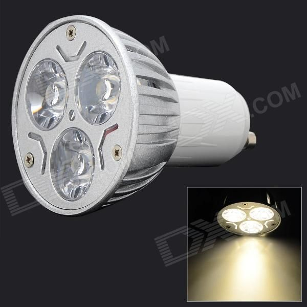 Color: Silver + White; Color BIN: Warm White; Brand: Zweihnder; Model: Z-3WDB-01GU; Material: Aluminum; Quantity: 1 Piece; Power: 3W; Rated Voltage: Others,95~245 V; Connector Type: GU10; Theoretical Lumens: 300 lumens; Actual Lumens: 250~300 lumens; Chip Brand: Epistar; Chip Type: 6063; Emitter Type: Others,SMD LED; Total Emitters: 3; Color Temperature: Others,3000~3500K; Dimmable: no; Packing List: 1 x Spotlight; http://j.mp/1oTDmba