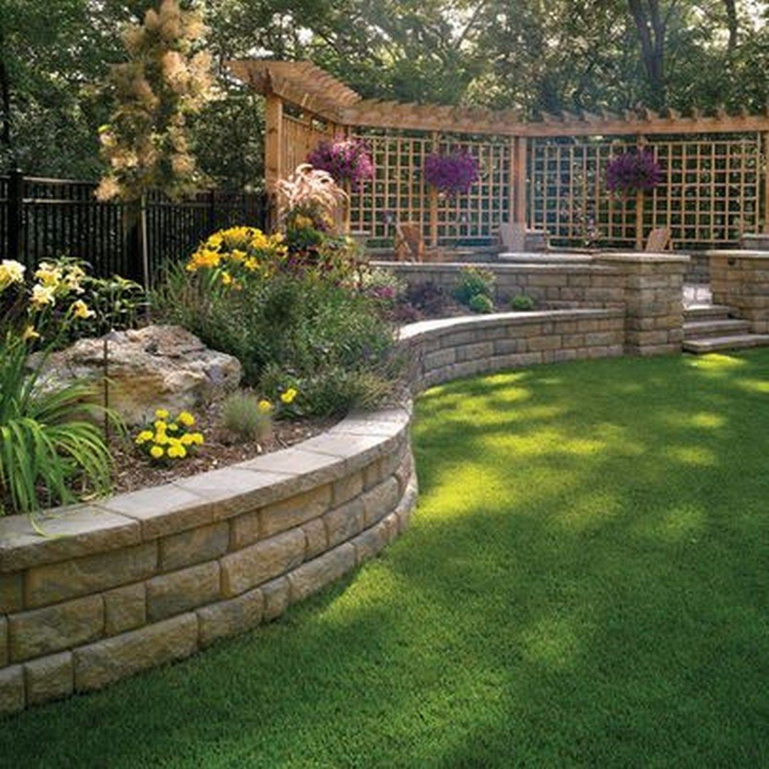 32 Beautiful Front Yard Retaining Wall Ideas Perfect For Your Front House Page 33 Of 34 Landscaping Retaining Walls Front Yard Decor Side Yard Landscaping
