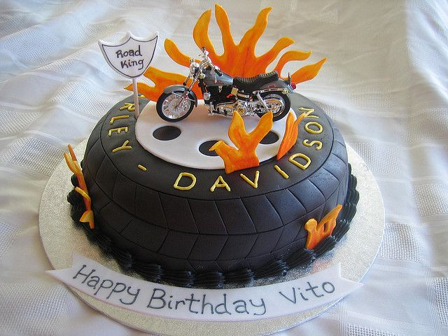 Harley Davidson Birthday Cake Harley davidson Birthday cakes and