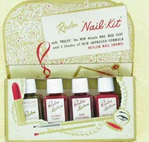 Revlon Vintage Nail polish set 1940\'s | nail polish history ...