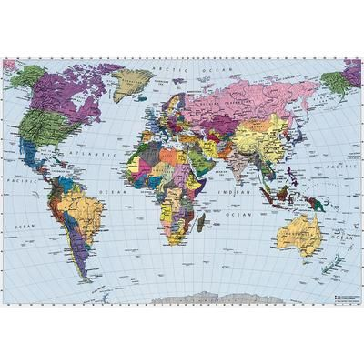 KOMAR - World Map Mural - 4-050 - Home Depot Canada, $99.00   Want ...
