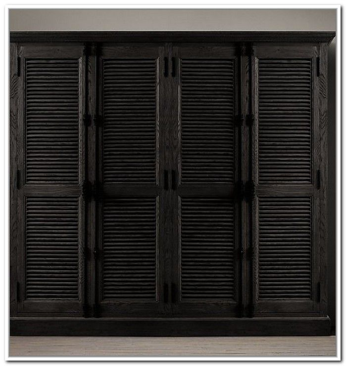Black Accordion Doors : Black shutter closet doors roselawnlutheran