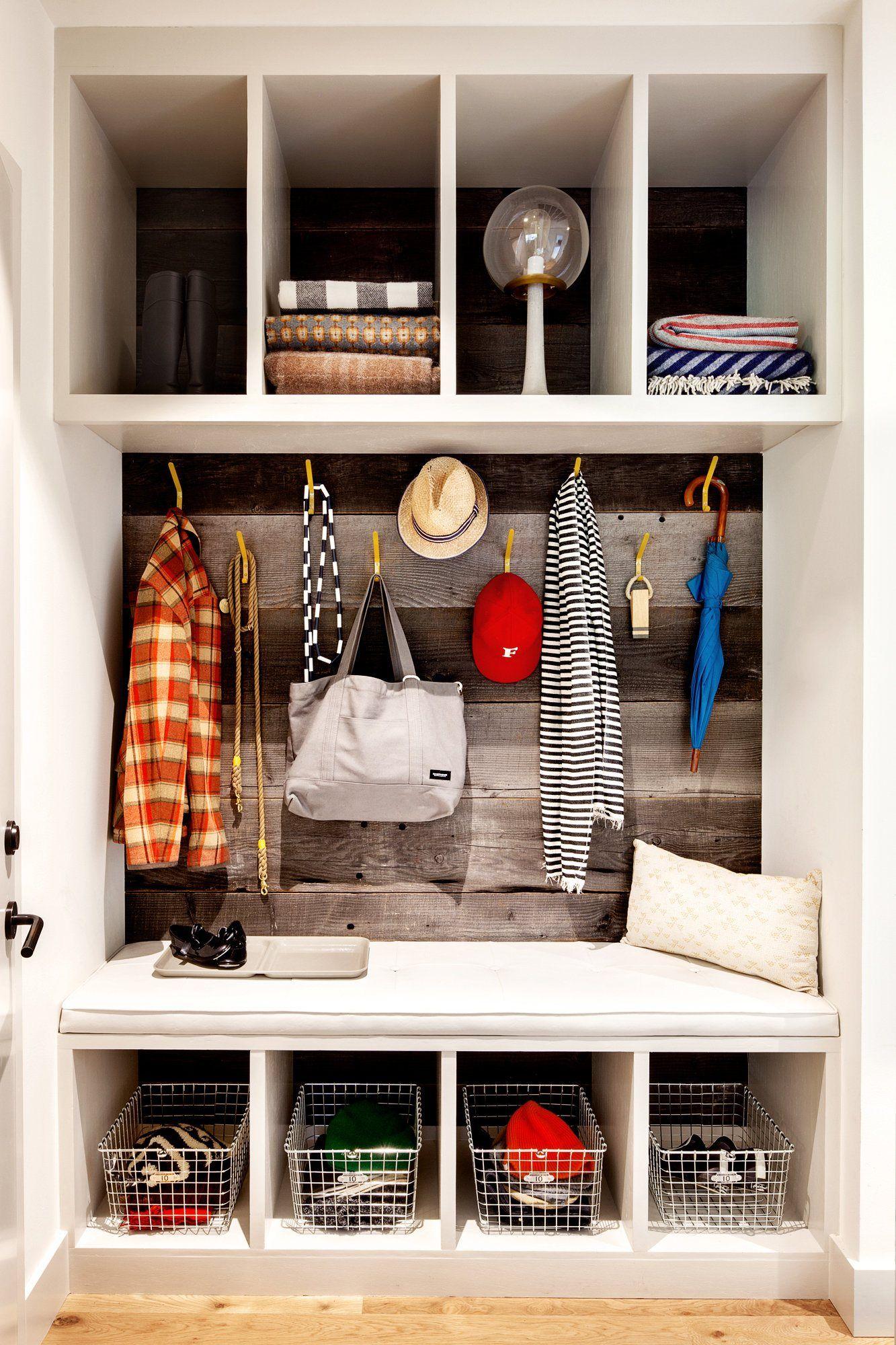 Modern hallway storage ideas  Mudroom storage  entrees  Pinterest  Mudroom Storage and Banquettes
