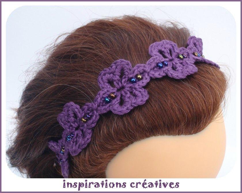 tuto ribambelle fleurie pour headband univers enfant pinterest crochet tricot et crochet. Black Bedroom Furniture Sets. Home Design Ideas