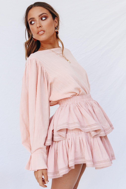 2f438c914afee VG Style Update Frill Mini Skirt    Rose – Verge Girl