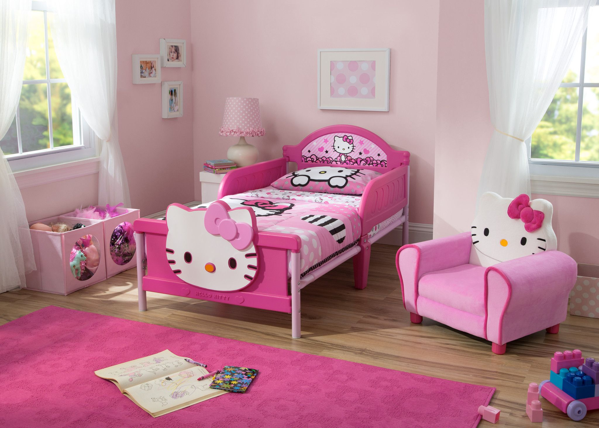 Hello Kitty Plastic 3D Toddler Bed