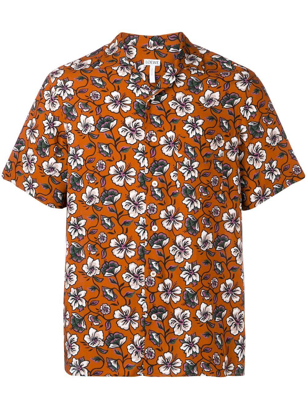 84b6fbe8 Loewe Hawaiian pattern shirt - Brown | Products in 2019 | Hawaiian ...