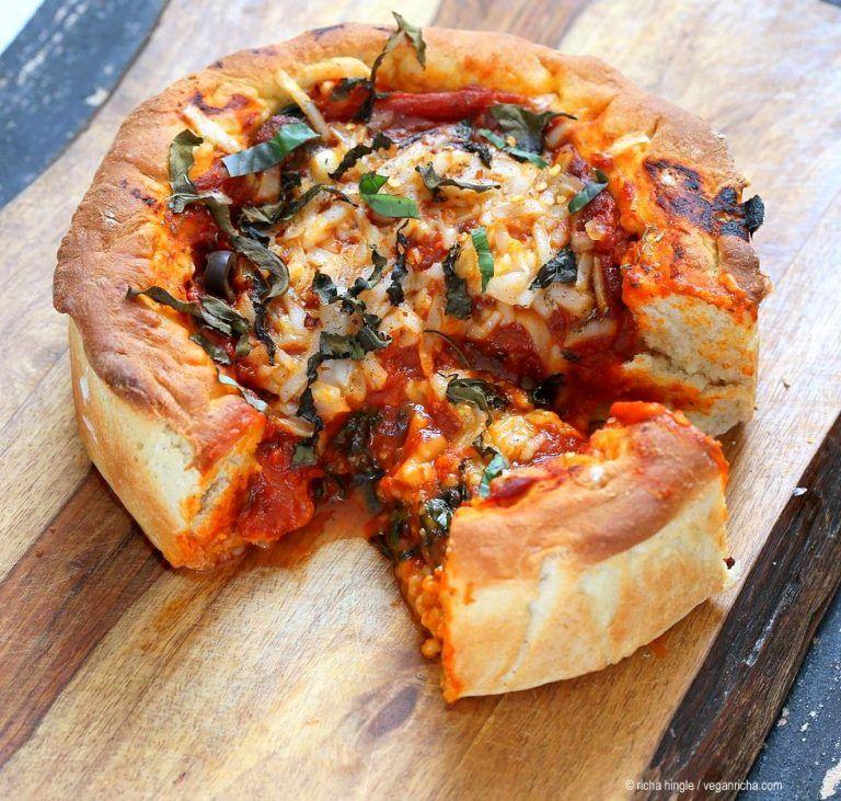 Vegan Deep Dish Pizza Recipe With Images Deep Dish Pizza