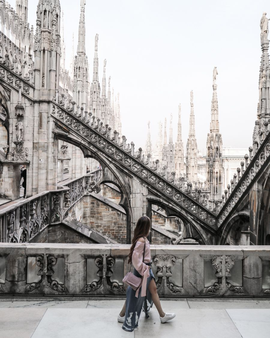 Terraces at the Duomo di Milano