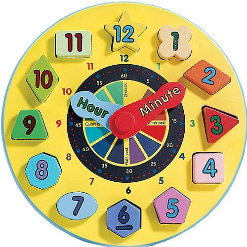 Melissa Amp Doug Wooden Shape Sorting Learning Clock Kids