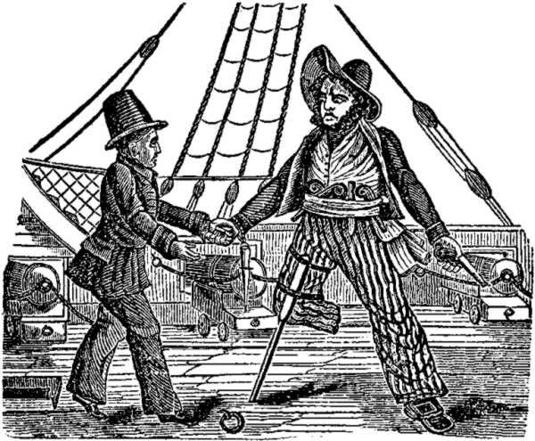 Captain Mackra, and the Pirate with a wooden leg