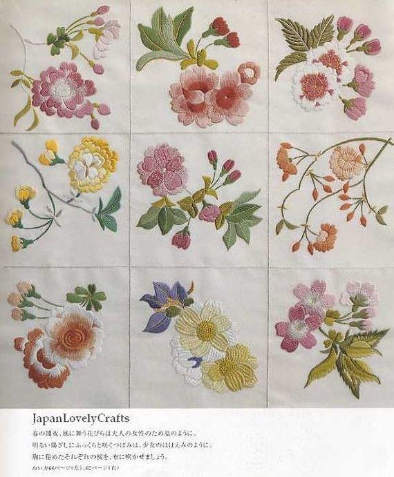 Patrones de bordado japonés tradicional por JapanLovelyCrafts ...