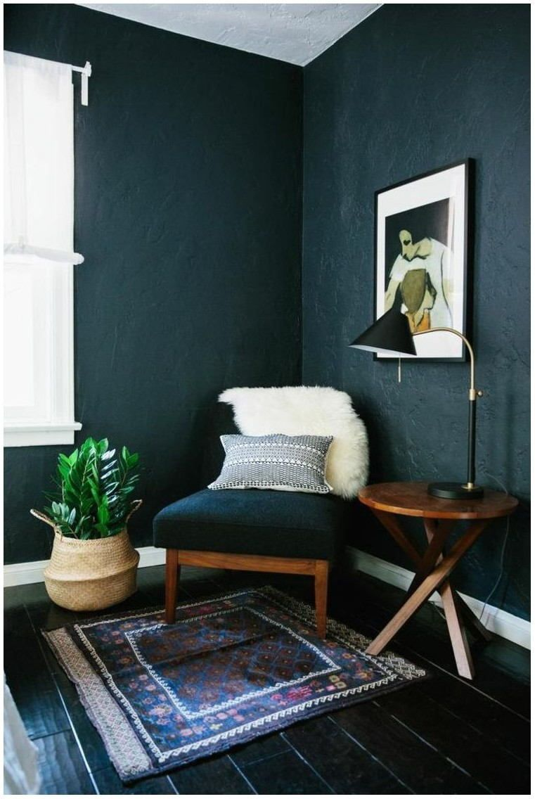 Dark Paint Small Living Room Small Room Design Interior House Interior #paint #small #living #room