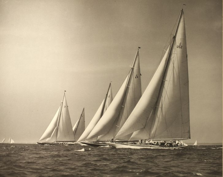 "Five J Boats"" by Morris Rosenfeld - Inventory | Boat, Sailing art ..."