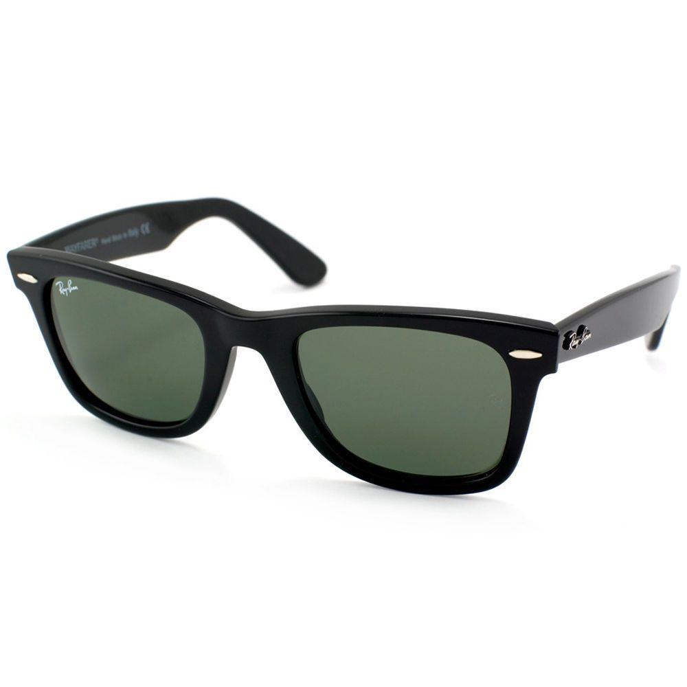 8b1b22b961 Ray-Ban Men's Wayfarer RB2140-901S-50 Black Wayfarer Sunglasses ...