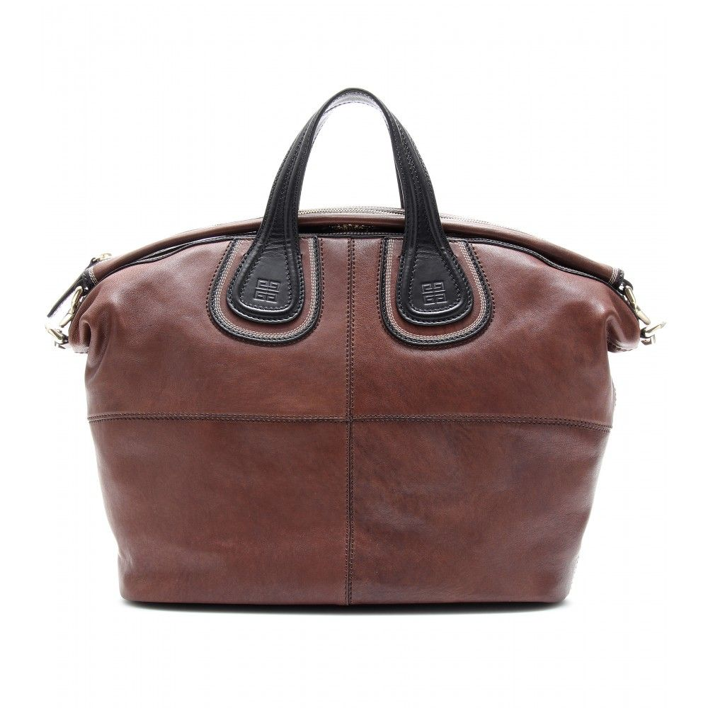a44841ba0bb mytheresa.com - Givenchy - NIGHTINGALE LEATHER TOTE - Luxury Fashion for  Women   Designer