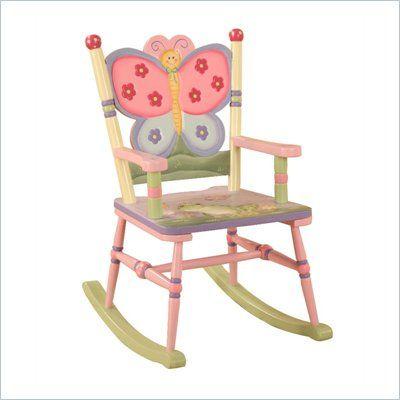 Fantasy Fields Hand Painted Magic Garden Rocking Chair