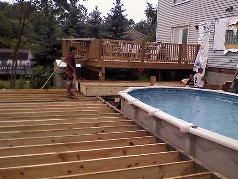 Image result for multi level deck above ground pool for Multi level deck above ground pool