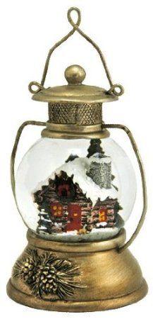 Cabin In A Lantern Snow Globe Furniture Amp Decor Christmas Snow Globes Snow