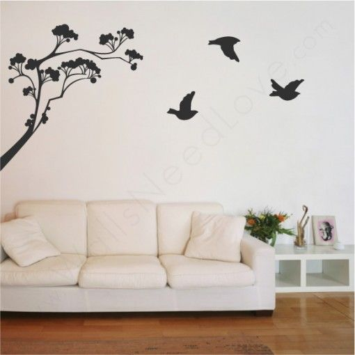 Lollipop Tree Wall Decals Have An Easy Application Process Black