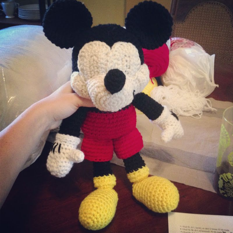 Handmade by Meg K: Crocheted Mickey Mouse [Pattern Review] | Crafts ...