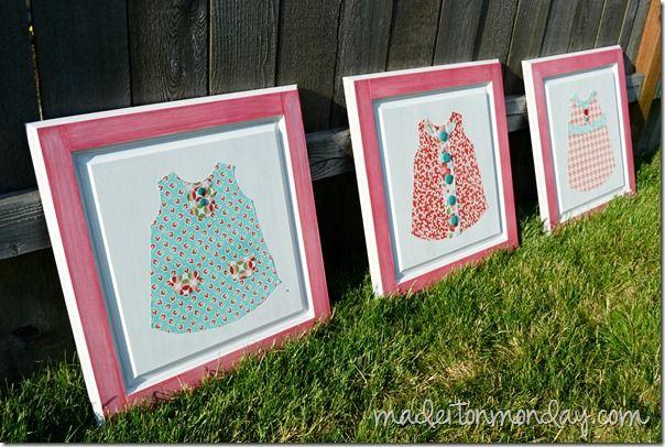 Fabric Dresses Artwork, via Made it On Monday