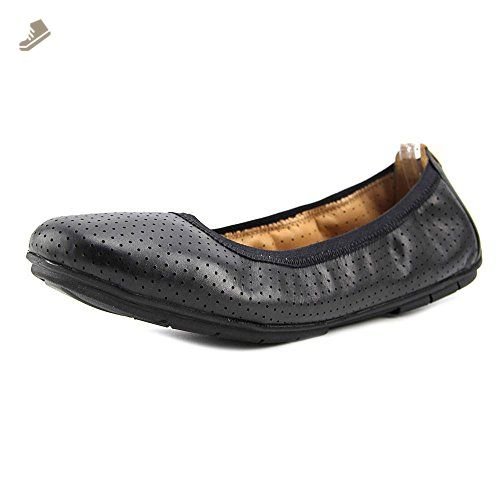 Un Tract Ballet Flat,Black Leather