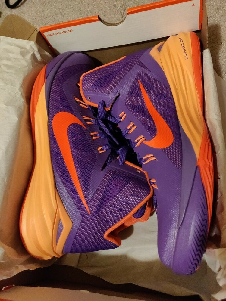 the latest 926ab 72013 NIKE HYPERDUNK 2014 Violet and orange color. New with box. Mens size 11.   fashion  clothing  shoes  accessories  mensshoes  athleticshoes (ebay link)