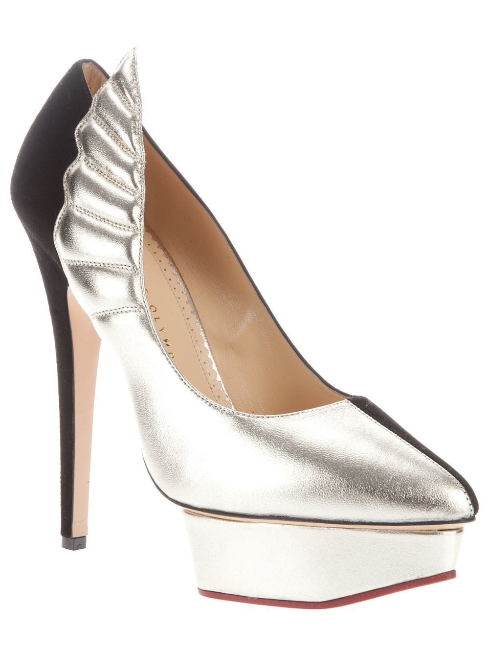 9e9ec973a CHARLOTTE OLYMPIA wing detail pump, farfetch from Dolci Trame Siena, Italy.