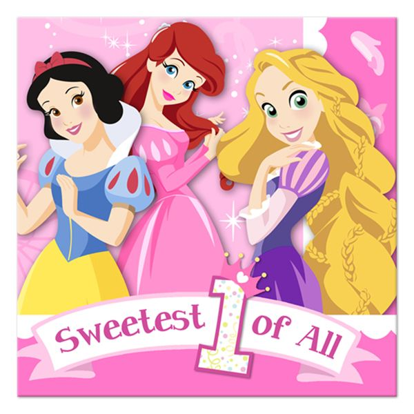 16 ~ Birthday Party Supplies Dinner SNOW WHITE Prince Charming LUNCH NAPKINS