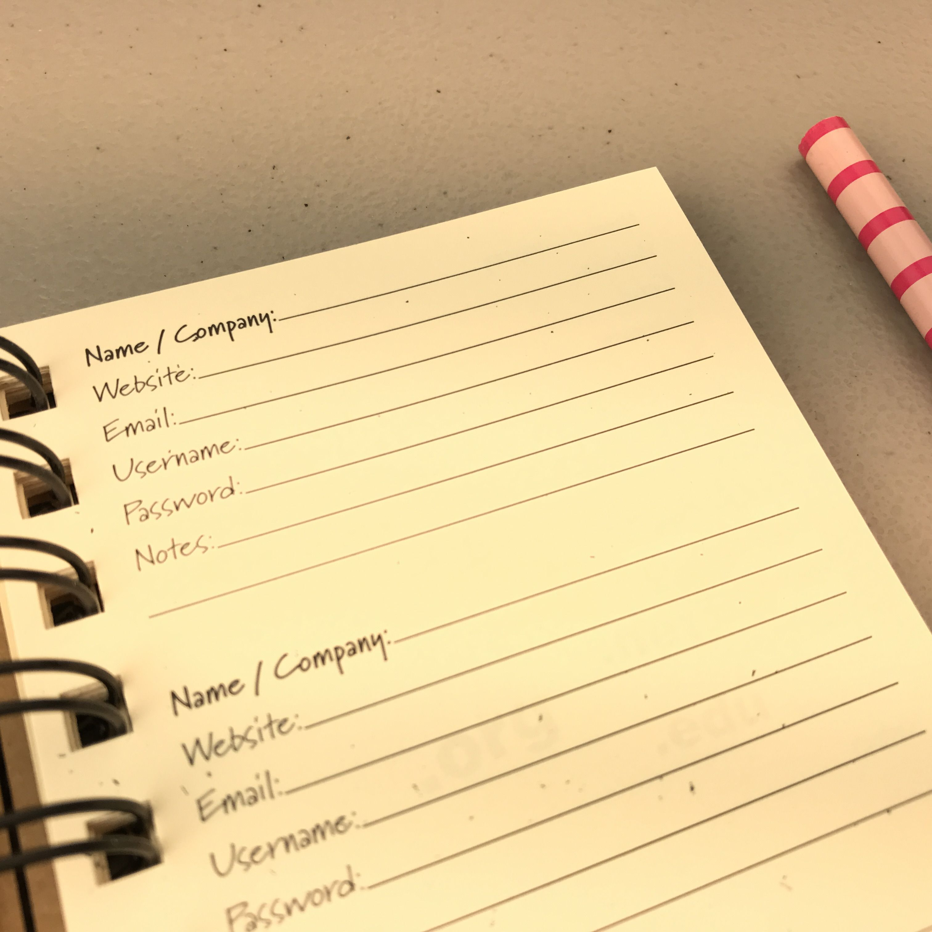 Do You Forget Your Passwords A Password Journal May Help